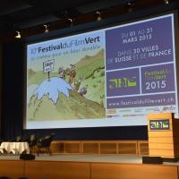 FFV 2015 - La scène du Festival du Film Vert pendant la pause.