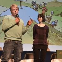 """FFV 2015 - Marc Haller, Boulanger et Lila Ribi, réalisatrice de """"pain vivant"""" qui vient d'être projeté ."""
